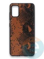 Накладка силиконовая Pitone для Samsung Galaxy A41 коричневая