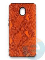 Накладка силиконовая Pitone для Xiaomi Redmi 8A оранжевая
