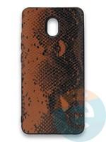 Накладка силиконовая Pitone для Xiaomi Redmi 8A коричневая