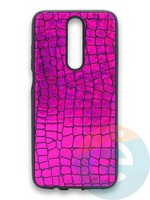 Накладка силиконовая Fantastic Skin блестящая для Huawei Y5 2018/Honor 7A фиолетовая
