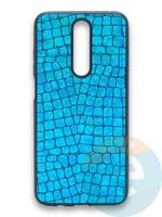 Накладка силиконовая Fantastic Skin блестящая для Huawei Y5 2018/Honor 7A бирюзовая