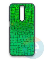 Накладка силиконовая Fantastic Skin блестящая для Huawei Y5 2018/Honor 7A зеленая