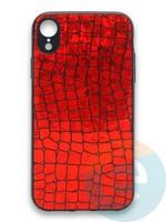 Накладка силиконовая Fantastic Skin блестящая для Huawei P40 крансная