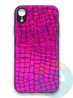 Накладка силиконовая Fantastic Skin блестящая для Huawei P40 фиолетовая