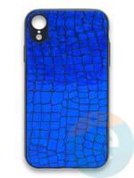 Накладка силиконовая Fantastic Skin блестящая для Huawei P40 синяя