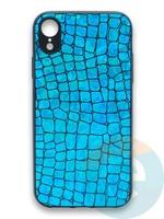 Накладка силиконовая Fantastic Skin блестящая для Huawei P40 бирюзовая