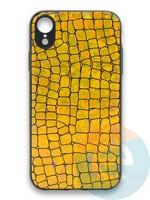 Накладка силиконовая Fantastic Skin блестящая для Huawei P40 золотистая