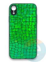 Накладка силиконовая Fantastic Skin блестящая для Huawei P40 зеленая