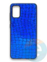 Накладка силиконовая Fantastic Skin блестящая для Samsung Galaxy A41 синяя