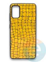 Накладка силиконовая Fantastic Skin блестящая для Samsung Galaxy A41 золотистая