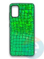 Накладка силиконовая Fantastic Skin блестящая для Samsung Galaxy A41 зеленая