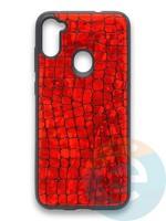 Накладка силиконовая Fantastic Skin блестящая для Samsung Galaxy A11 красная