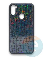 Накладка силиконовая Fantastic Skin блестящая для Samsung Galaxy A11 черная