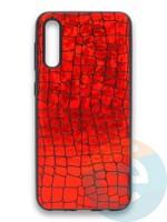 Накладка силиконовая Fantastic Skin блестящая для Samsung Galaxy A50/A30S красная