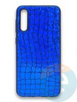 Накладка силиконовая Fantastic Skin блестящая для Samsung Galaxy A50/A30S синяя
