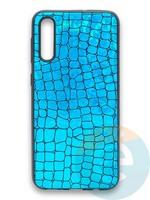 Накладка силиконовая Fantastic Skin блестящая для Samsung Galaxy A50/A30S бирюзовая