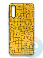 Накладка силиконовая Fantastic Skin блестящая для Samsung Galaxy A50/A30S золотистая