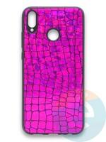 Накладка силиконовая Fantastic Skin блестящая для Huawei Honor 8X фиолетовая