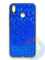 Накладка силиконовая Fantastic Skin блестящая для Huawei Honor 8X синяя