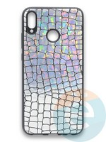 Накладка силиконовая Fantastic Skin блестящая для Huawei Honor 8X серебристая