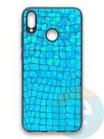 Накладка силиконовая Fantastic Skin блестящая для Huawei Honor 8X бирюзовая