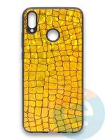 Накладка силиконовая Fantastic Skin блестящая для Huawei Honor 8X золотистая