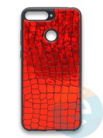 Накладка силиконовая Fantastic Skin блестящая для Huawei Y6 Prime 2018/Honor 7A Pro красная