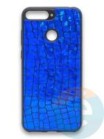 Накладка силиконовая Fantastic Skin блестящая для Huawei Y6 Prime 2018/Honor 7A Pro синяя