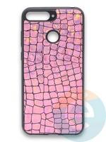 Накладка силиконовая Fantastic Skin блестящая для Huawei Y6 Prime 2018/Honor 7A Pro розовая