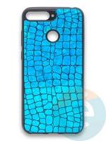Накладка силиконовая Fantastic Skin блестящая для Huawei Y6 Prime 2018/Honor 7A Pro бирюзовая