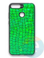 Накладка силиконовая Fantastic Skin блестящая для Huawei Y6 Prime 2018/Honor 7A Pro зеленая