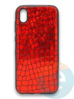 Накладка силиконовая Fantastic Skin блестящая для Huawei Y5 2019/Honor 8S красная