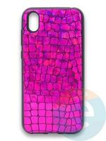 Накладка силиконовая Fantastic Skin блестящая для Huawei Y5 2019/Honor 8S фиолетовая