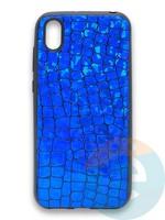 Накладка силиконовая Fantastic Skin блестящая для Huawei Y5 2019/Honor 8S синяя