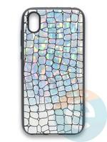 Накладка силиконовая Fantastic Skin блестящая для Huawei Y5 2019/Honor 8S серебристая