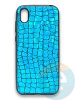 Накладка силиконовая Fantastic Skin блестящая для Huawei Y5 2019/Honor 8S бирюзовая