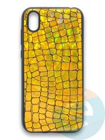 Накладка силиконовая Fantastic Skin блестящая для Huawei Y5 2019/Honor 8S золотистая