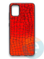 Накладка силиконовая Fantastic Skin блестящая для Samsung Galaxy A51 красная