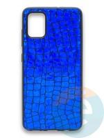 Накладка силиконовая Fantastic Skin блестящая для Samsung Galaxy A51 синяя