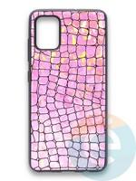 Накладка силиконовая Fantastic Skin блестящая для Samsung Galaxy A51 розовая