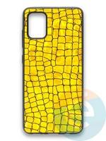 Накладка силиконовая Fantastic Skin блестящая для Samsung Galaxy A51 золотистая
