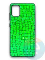Накладка силиконовая Fantastic Skin блестящая для Samsung Galaxy A51 зеленая