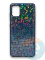 Накладка силиконовая Fantastic Skin блестящая для Samsung Galaxy A51 черная