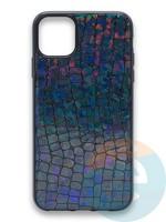 Накладка силиконовая Fantastic Skin блестящая для Apple iPhone 11 черная