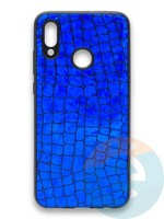 Накладка силиконовая Fantastic Skin блестящая для Huawei P Smart 2019/Honor 10 Lite синяя
