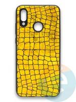 Накладка силиконовая Fantastic Skin блестящая для Huawei P Smart 2019/Honor 10 Lite золотистая