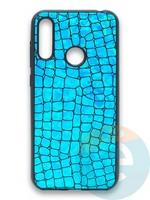 Накладка силиконовая Fantastic Skin блестящая для Huawei Y6 2019/Honor 8A бирюзовая