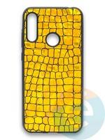 Накладка силиконовая Fantastic Skin блестящая для Huawei Y6 2019/Honor 8A золотистая