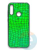 Накладка силиконовая Fantastic Skin блестящая для Huawei Y6 2019/Honor 8A зеленая