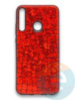 Накладка силиконовая Fantastic Skin блестящая для Huawei Y7P/P40 Lite E 2020 красная